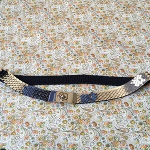 Accessories - Silver Snake Scales Stretch Belt